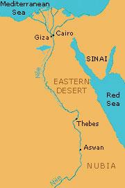 Untitled Document - Map of egypt nubian desert